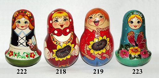 "Vyatka souvenir / Painted nesting doll ""Tumbler"""