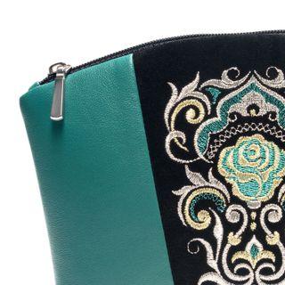 "Leather cosmetics bag ""Rose"""