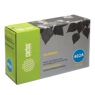 Toner cartridge CACTUS (CS-CB402A) for HP ColorLaserJet CP4005, yellow, yield 7500 pages.