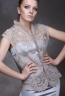 Womens vest lace floral ornament