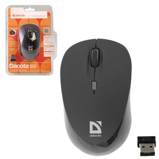 DEFENDER / Wireless mouse Dacota MS-155, 2 buttons + 1 wheel-button, laser, black-red