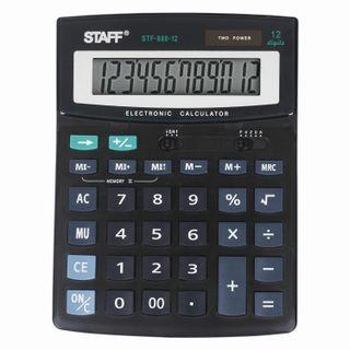 Desktop calculator STAFF STF-888-12 (200x150 mm), 12 digits, dual power supply