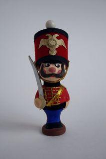 Doll-poteshka gift porcelain. Hussars.