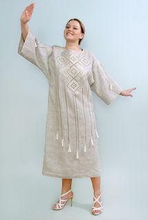 Dress womens linen 9-56