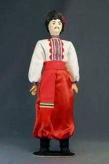 Ukrainian in a festive suit. Dolls souvenir
