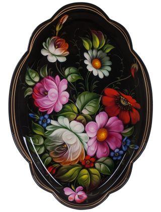 Zhostovo / Articulny Zhostovo tray 32x22 cm