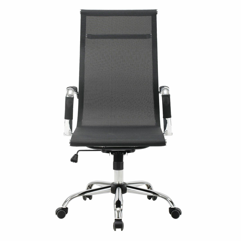 "Office chair BRABIX ""Line EX-530"", chrome, mesh, black"