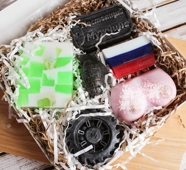 Men's handmade soap set Real luxury man