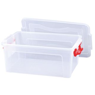 IDEA / Drawer 14 l, with snap lid, for storage, 18x43x28 cm, plastic, transparent
