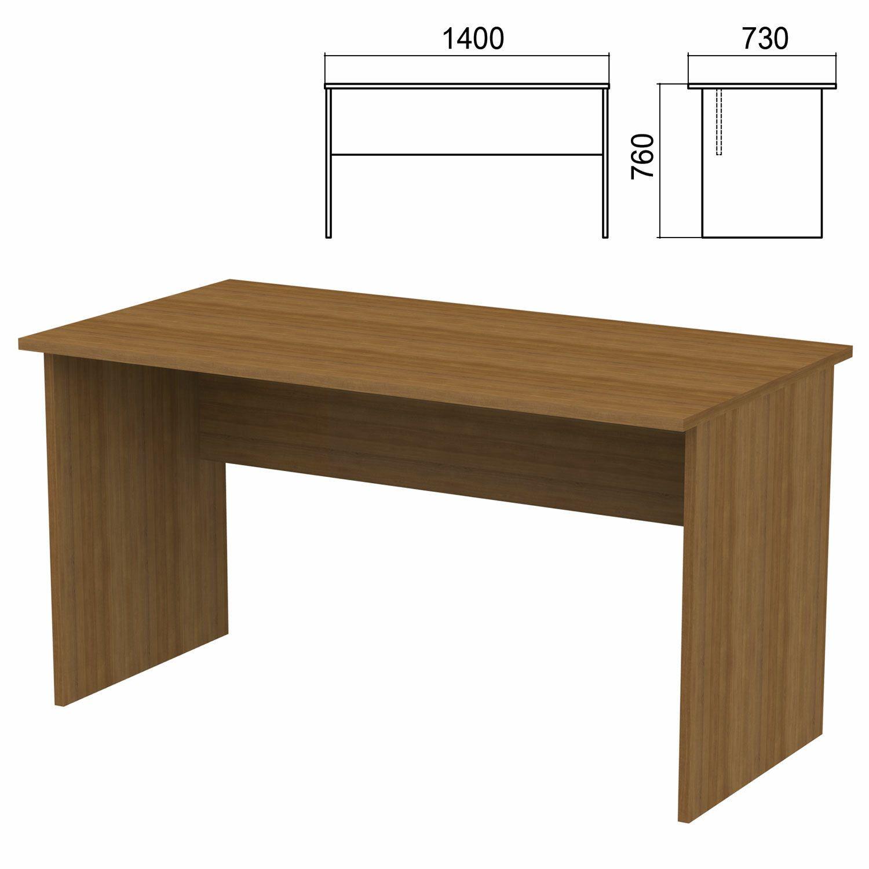"Table written ""Argo,"" 1400 x730 x760 mm, walnut"