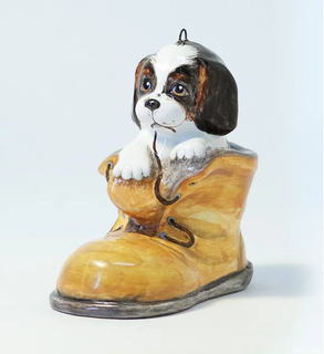 Boot with a puppy - Christmas tree toy
