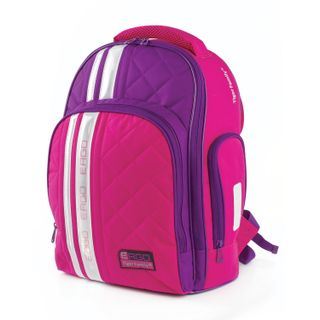Backpack TIGER FAMILY, with orthopedic backrest for high school, pink/purple, 39х31х20 cm