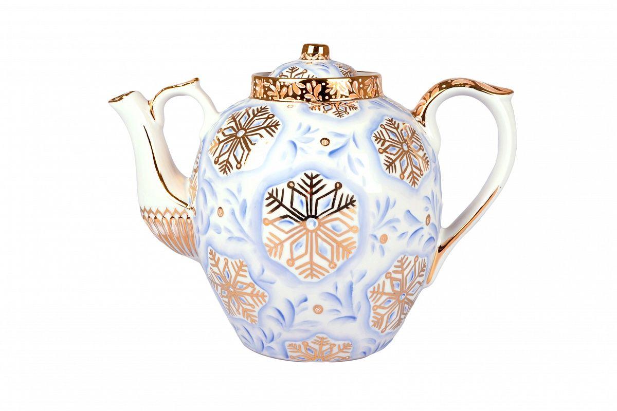 Dulevo porcelain / Teapot 4500 ml Russian Snowflake