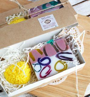 Handmade soap set Berry basket