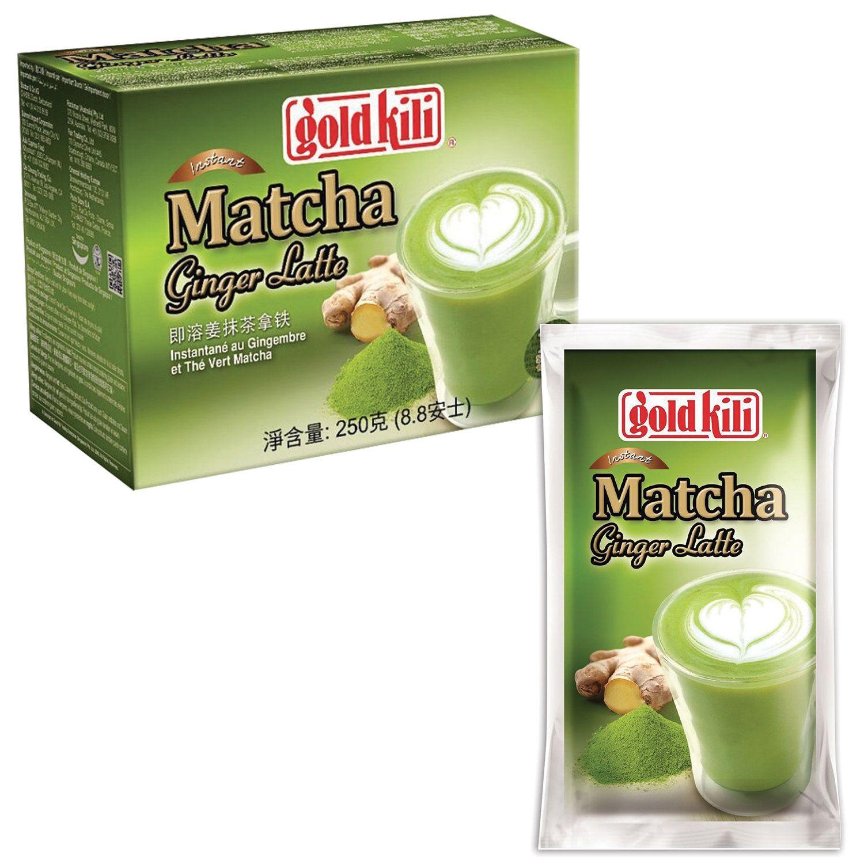 "GOLD KILI / Matcha Latte with ginger and lemon ""Matcha Ginger Latte"", 10 sachets of 25 g each"