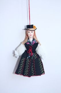 Women's costume of the 20th century. Canary Islands: Tenerife. Doll gift