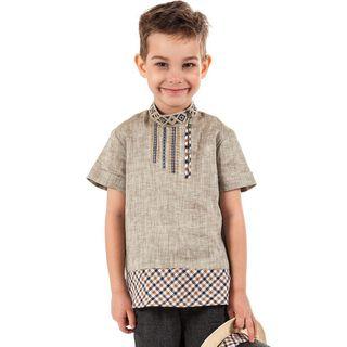 "Shirt ""Ivan da Marya"" gray with silk embroidery"