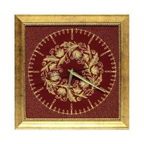 Panel-watch 'Baroque' red color with Golden embroidery