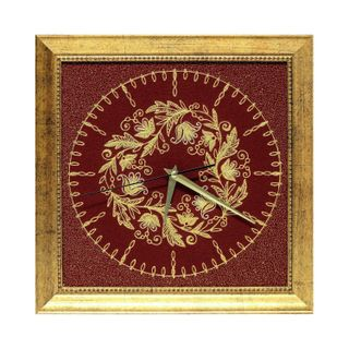 """Panel-watch """"Baroque"""" red color with Golden embroidery"""