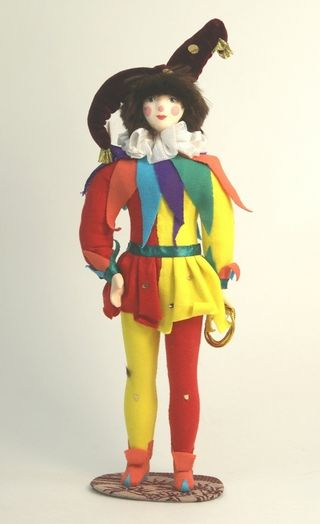 Doll gift porcelain. The Tightrope Walker Tibul. Fairy tale character.
