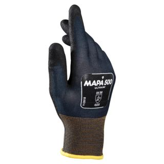 MAPA / Textile gloves Ultrane 500, nitrile coating (doused), oil resistant, size 10 (XL), black