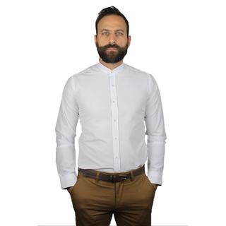 "Men's shirt ""Mao slim"" white"
