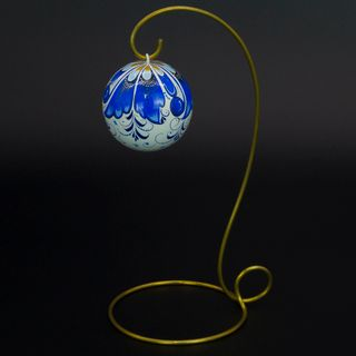 Fishing / Christmas tree wooden ball, 65 mm