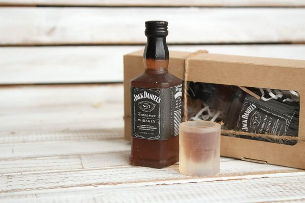 Copyright soap - Jack Daniels men's set - bottle and glass with whiskey