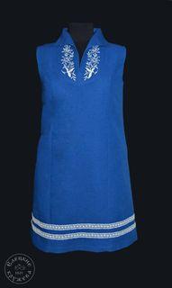 Dress womens linen blue