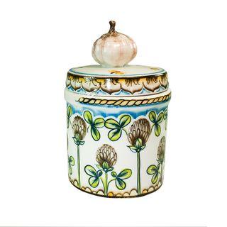 Bank Garlic small underglaze colored paint, Gzhel Porcelain factory