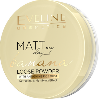Transparent mattifying powder - banana series my day matt loose powder, Eveline, 6 g
