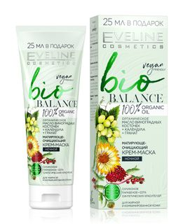 Bio balance – matroudi-purifying cream-mask night series bio, Eveline, 75 ml