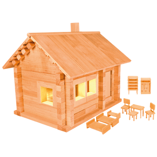 Designer Hut three bears with furniture and wiring, 151 element, Pelsi