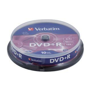 VERBATIM / DVD + R Discs (plus) 4.7 Gb 16x Cake Box, SET of 10