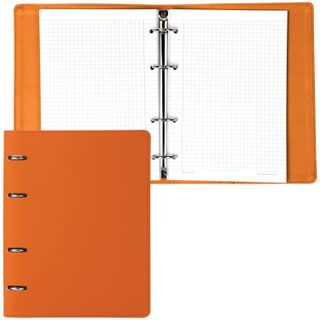 Notebook on A5 rings (180 x220 mm), 120 sheets, under textured skin, BRAUBERG