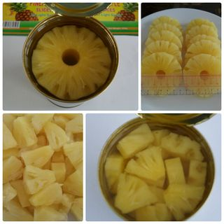 Canned pineapple in syrup