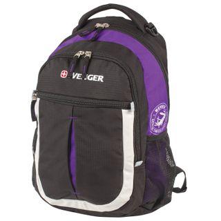 WENGER backpack, universal, black-purple, Montreux, 22 l, 32х15х45 cm
