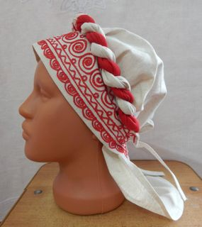 "Headdress ""Forty with a scythe"" Karelian patterns"