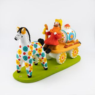 Dymkovo clay toy song Fire