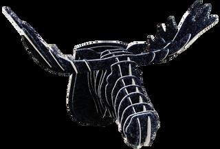 3D figure – Head of an elk KV Black