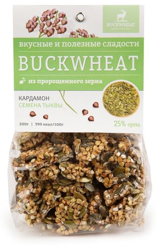 Buckwheat / Pastry with pumpkin seeds and cardamom, 200g, 8 pcs.
