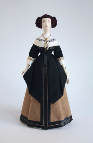 Women's noble costume early 17th century Holland. Doll gift