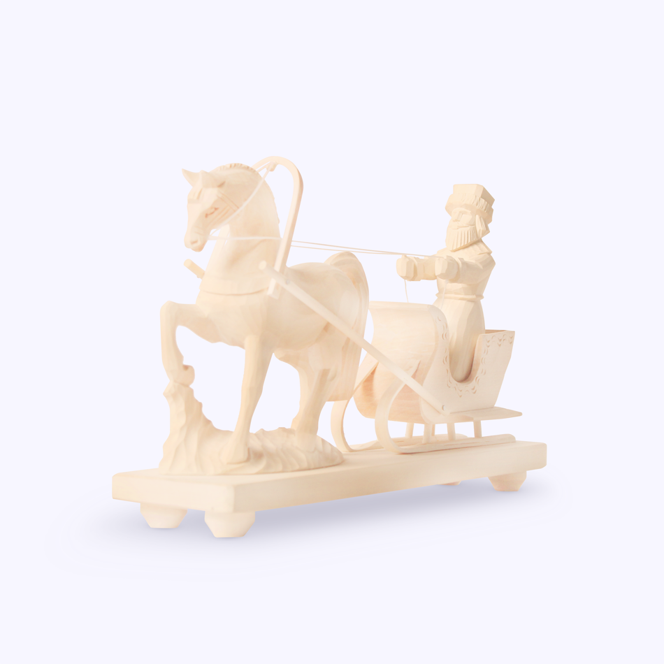"Bogorodsk toy / Wooden souvenir ""Coachman"""