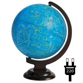 The celestial globe 250 mm on a wooden stand with backlight