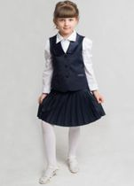 "Pleisse skirt from the collection ""Elegant"", half woolen"