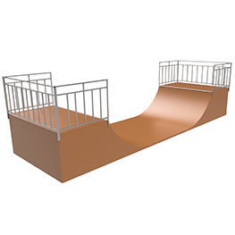 Element for the skate platform MM-204 Half pipe