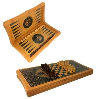 Set of board games 3 in 1, chess, checkers, backgammon