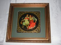 Palekh lacquer miniature. Panel 'Dance'