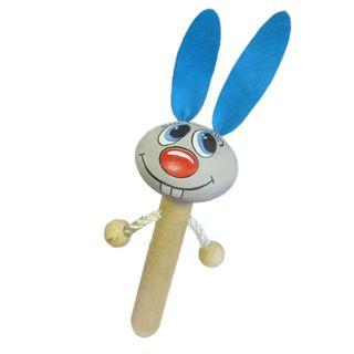 Wooden toy pop gun Bunny meadow