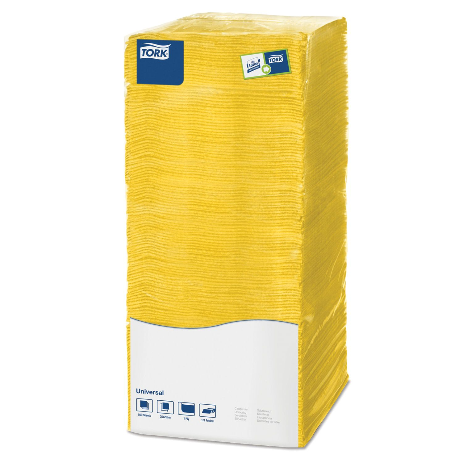 TORK / Napkins Big Pack yellow, 25x25, 500 pcs.